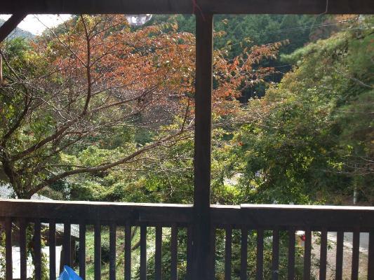 2階のテラス風景